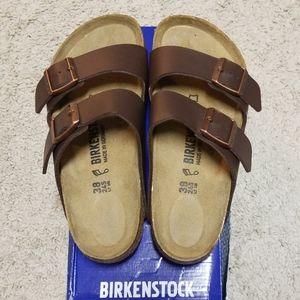 Birkenstock Arizona Birko-Flor Dark Brown